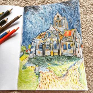 The Church at Auvers (After Van Gogh)
