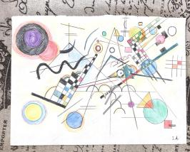 After Wassily Kandinsky ( a gift to a friend)