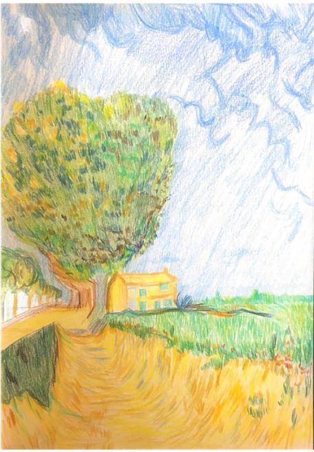 A Lane Near Arles (After Van Gogh)